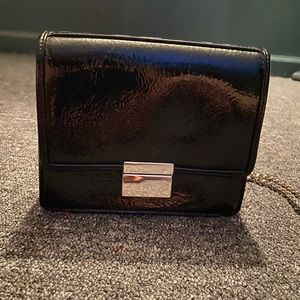Forever 21 Black Crossbody With Metal Chain Strap